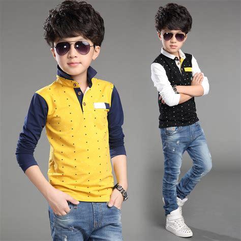 Summer T Shirt Anak Laki Laki t shirt for boys autumn cotton casual children clothing polka dot big clothes for boys