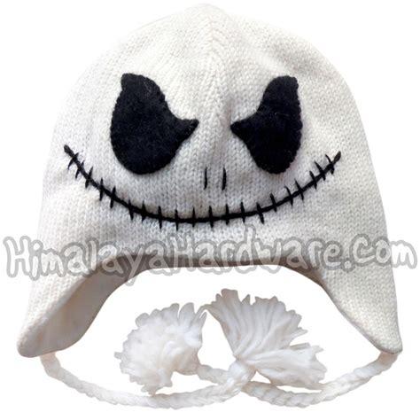 knitting pattern jack skellington knit wool jack skellington hat beanie ear flap nightmare
