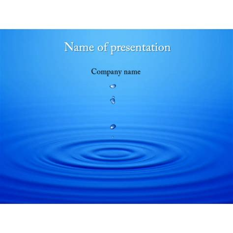Free Powerpoint Presentation Template by Water Drops Powerpoint Template Background For