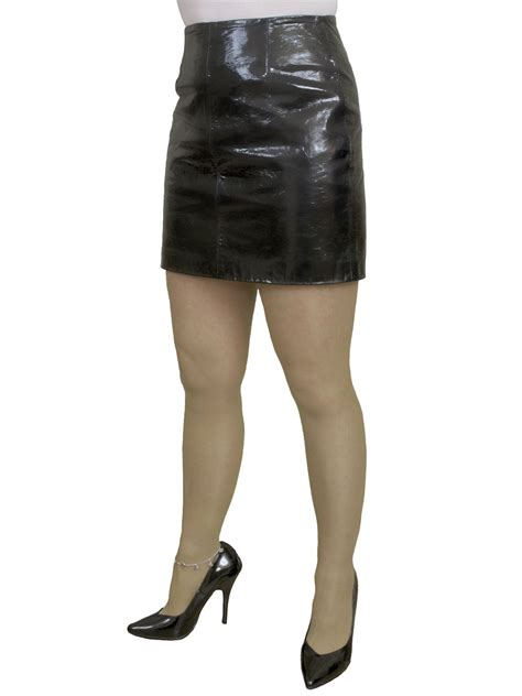 black patent leather mini skirt tout ensemble