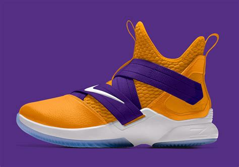 laker colors nike lebron soldier 12 available in la lakers colors all
