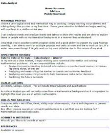 data analyst cv exle icover org uk