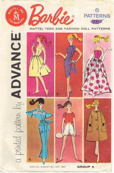 barbie sewing patterns on pinterest barbie patterns image detail for vintage 60s barbie doll sewing patterns