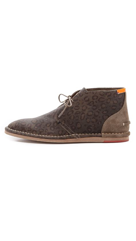 Jupiter Boots Brown paul smith jupiter chukka boots in brown for leopard