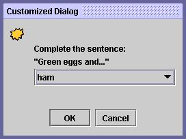 java swing modal dialog how to make dialogs