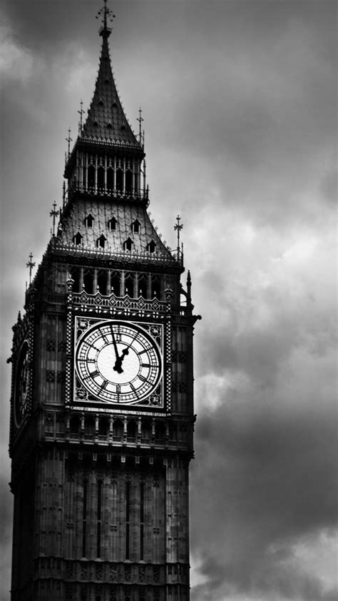 Big Ben Black And White Wallpaper for 1080x1920