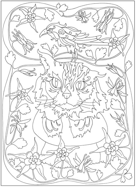 creative cats color by number coloring book coloring books welcome to dover publications