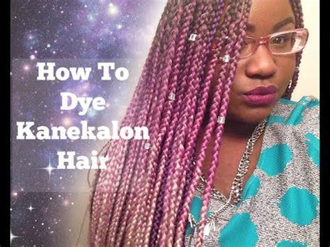 kankalone hair colors mahogany how to dye kanekalon hair youtube