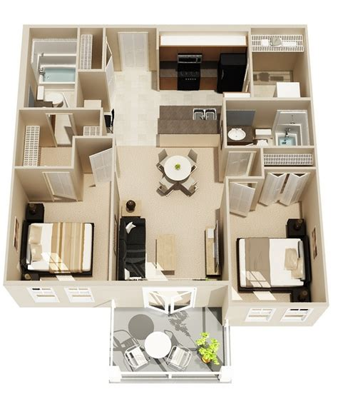 2 bedroom plan layout 2 bedroom apartment house plans