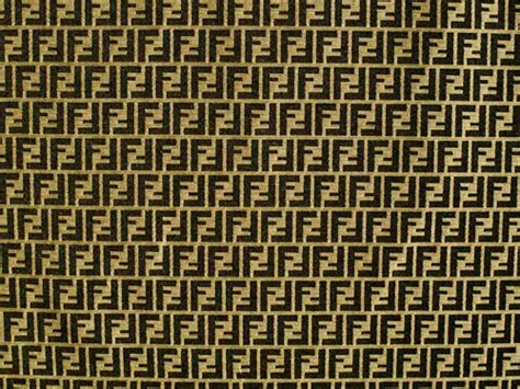 Match The Drapes 321 55 Authentic Fendi Logo Cotton Jacquard Brown Tan