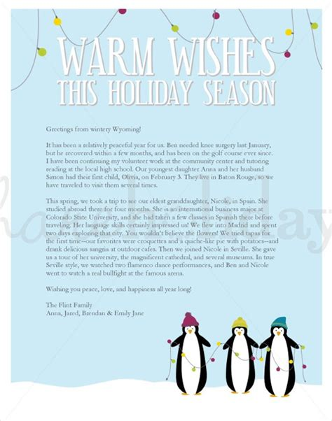 holiday letter template merrychristmaswishesinfo