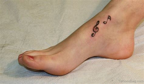 small music tattoos 52 adorable musical note on foot