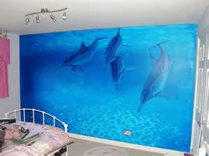 girl bedroom decor using dolphin wallpaper murals by environmental all products bedroom bedroom decor wall decor wall stickers