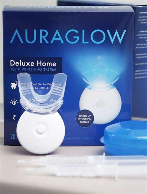 auraglow home teeth whitening system gadget flow