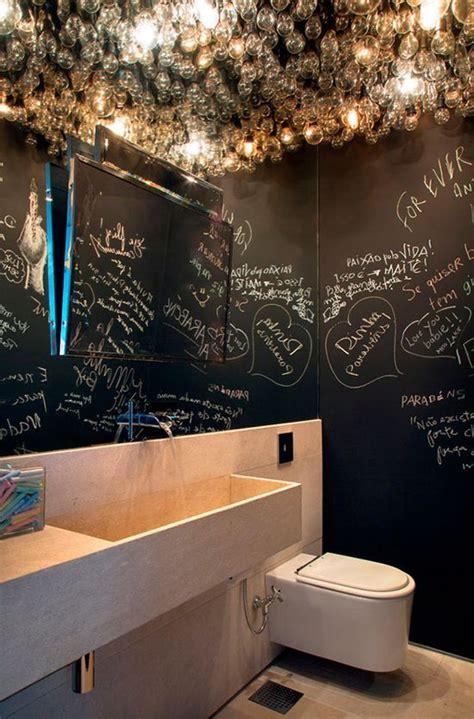 unconventional chalkboard bathroom decor ideas digsdigs