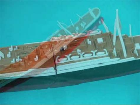 Titanic Sinking Model by The Sinking Legend Model The Titanic