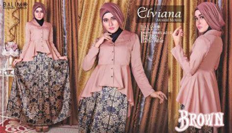 Gamis Syar I Velvet balimo elviana brown baju muslim gamis modern