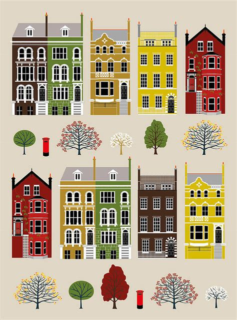house prints london row houses art print by natalie singh