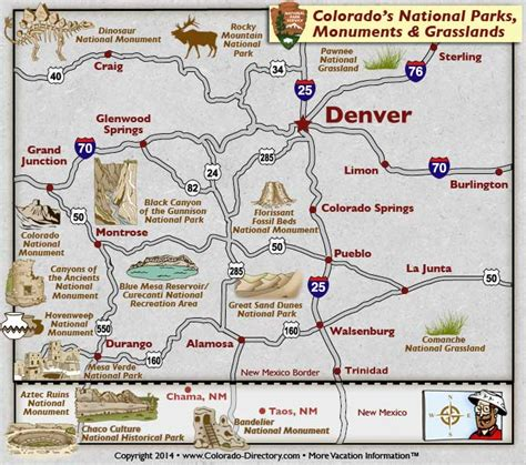state parks in colorado map colorado national parks monuments grasslands map
