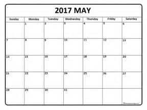 Calendar Printable Blank 2017 May 2017 Calendar May 2017 Calendar Printable
