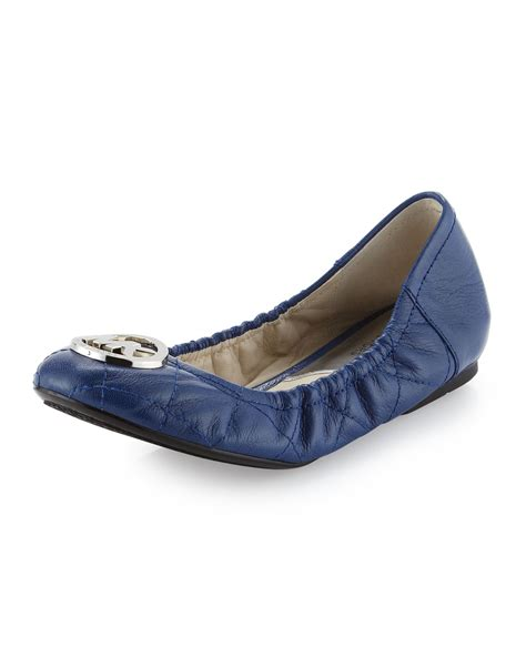 Michael Kors Fulton Quilted Ballet Flats by Michael Michael Kors Fulton Quilted Ballerina Flat In Blue