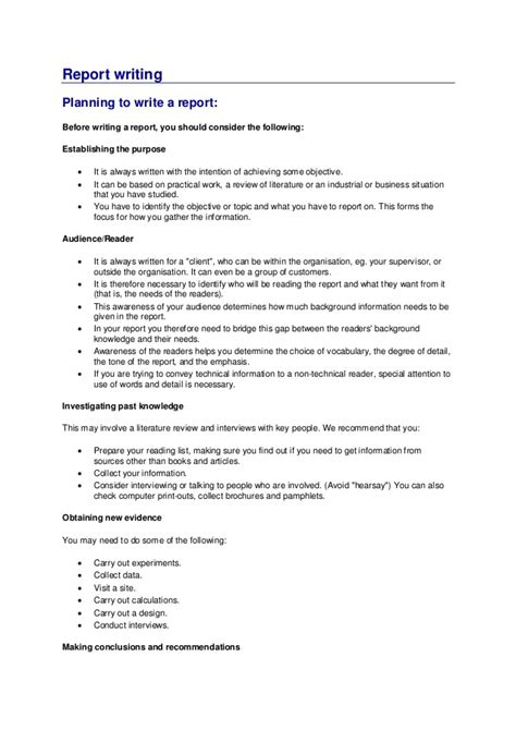 official report writing sle writing a report sle 28 images how to write a report