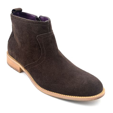 zip up boots buy brown suede zip up boots mens style gucinari
