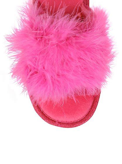 fluffy house shoes tickled pink fluffy slippers women george at asda