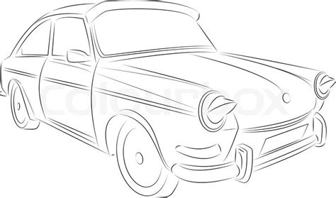 vintage cars drawings vintage car drawing stock vector colourbox