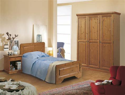 arredamento singola camere da letto in pino canazei singola