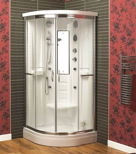 Aqualux Shower Doors Aqualux Florenta Quadrant Steam Shower Enclosure Cabin 900mm X 900mm Furniture Uk