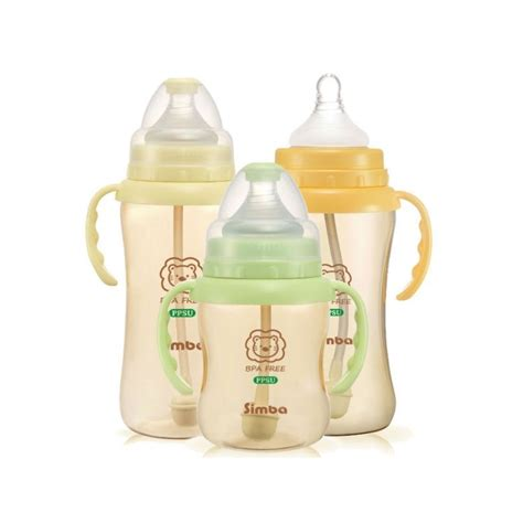 Simba Ppsu Wide Neck 270ml simba bottle add on straw set wide neck ppsu just4bb