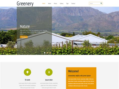 free bootstrap templates for agriculture greenery free responsive agricultural bootstrap template
