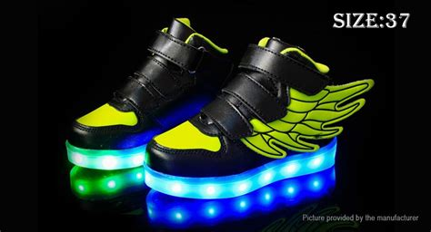 26 30 Wings Led Shoes 30 00 unisex led light up wings decorative shoes sneakers size 37 black green 16 led