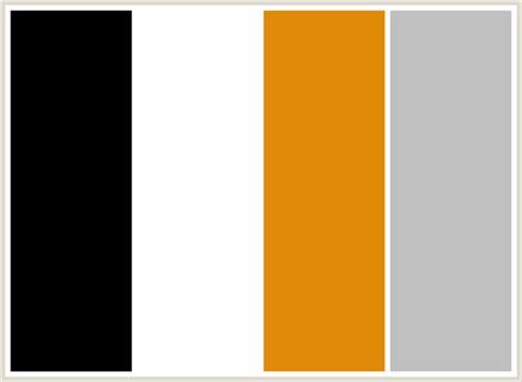 what color is ffffff colorcombo74 with hex colors 000000 ffffff e18a07 c0c0c0
