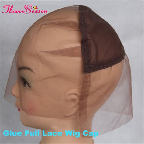how to glue weave to a cap with hair style off the face no bangs elastic glue full lace wig caps glueless full lace cap for