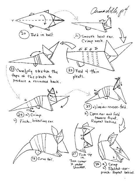 Difficult Origami Diagrams - origami animals