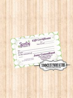 1000 Images About Scentsy On Pinterest Scentsy Fragrances Fundraisers And Direct Sales Scentsy Gift Certificate Template
