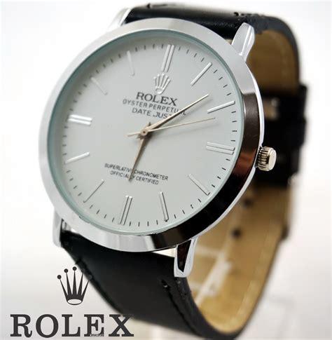Jam Tangan Rolex Rx1222 Hitam rolex polos putih hitam kucikuci shop jam tangan
