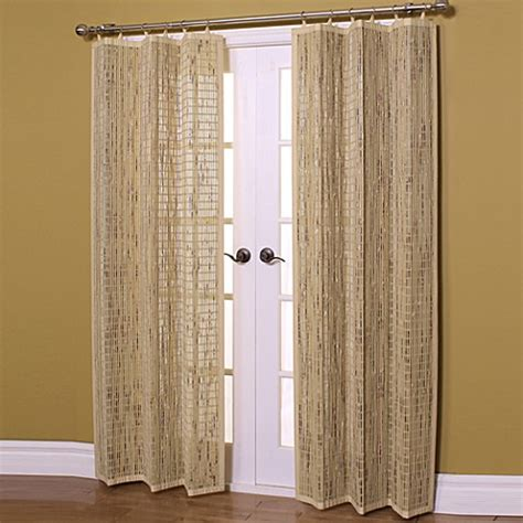 bamboo panel curtains easy glide 63 inch all natural bamboo ring top window