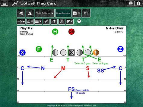 Football Play Card Instantly Create Football Play Cards And Play Scripts Football Play Cards Template