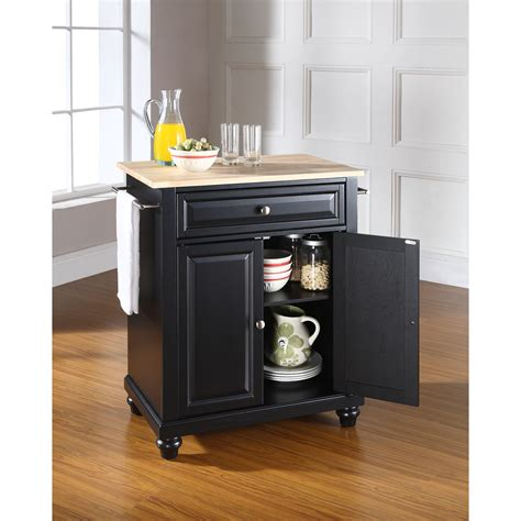 82 quot green kitchen island with solid wood top hou 57 l cambridge natural wood top portable kitchen island in