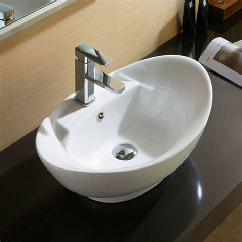Sink Countertop Bathroom by Bathroom Oval Vessel Sink Vanity Countertop Basin White