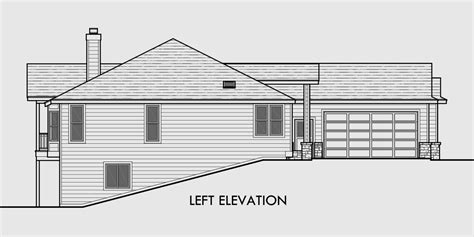 one story floor plans with basement one story house plans daylight basement house plans side