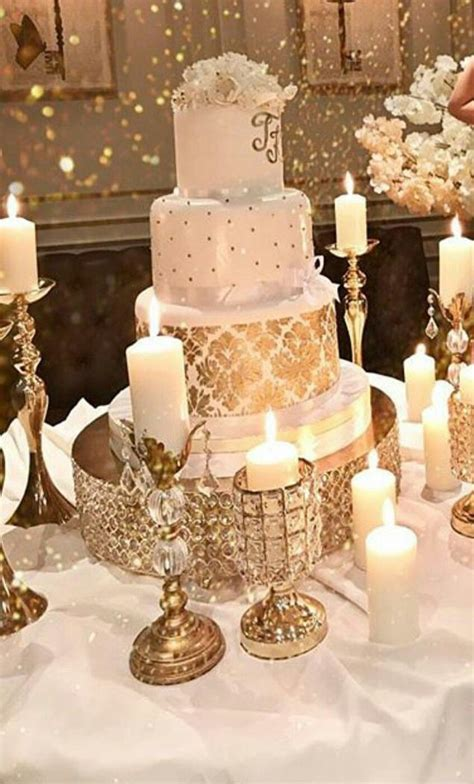 cake table decor switch large candles  eiffel towers