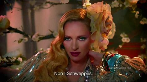 Uma Thurman Wants To Quit Acting To Take Care Of by And Unrated Schweppes Advertising With Uma