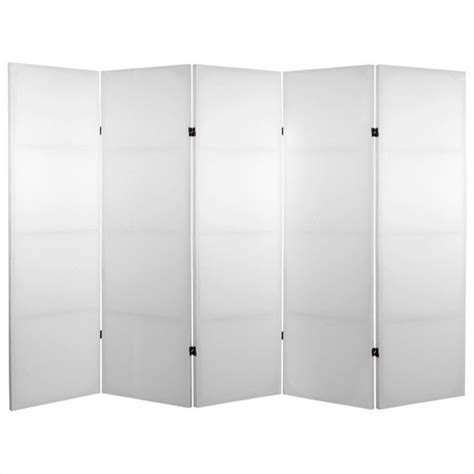 Canvas Room Divider Do It Yourself Canvas Room Divider With 5 Panel In White Ebay