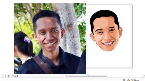 cara membuat foto menjadi kartun dengan coreldraw x7 cara trace photo menjadi kartun mengunakan coreldraw