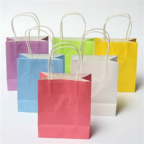Paper Gift Bags - colorful kraft paper gift bag wedding handle paper