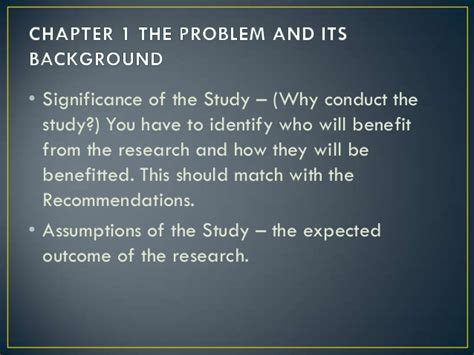 significance of the study in research paper parts of a research paper significance of the study